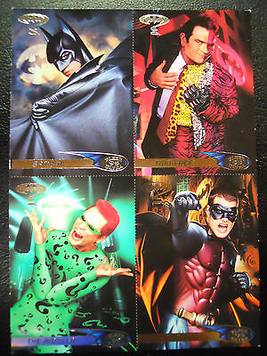 COMPLETE SET! 1995 Target Fleer Ultra Batman Forever Trading Card Set-Uncut
