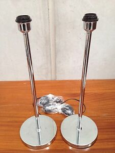 2 X 150cm Brand new in box polished chrome floor lamp stands Clayton Monash Area Preview