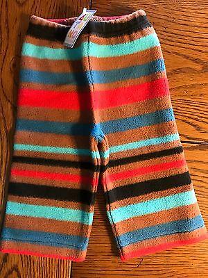 *NWT ZUTANO* Unisex Boys Girls Cozie Bold Stripe Black Fleece Pants Sz 6 Months Zutano Bold Stripe