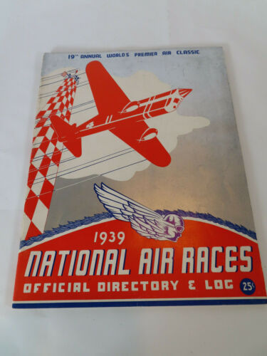 1939 Cleveland Ohio Air Race Program