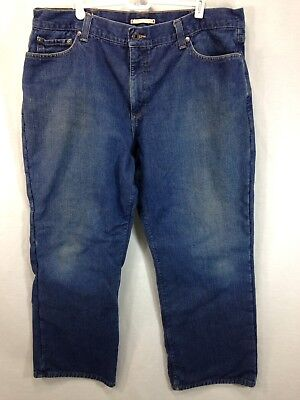 Cotton Thermal Jeans - LL Bean Pants Mens 40 x 30 Blue Jeans 100% Cotton Standard Fit Thermal Lined