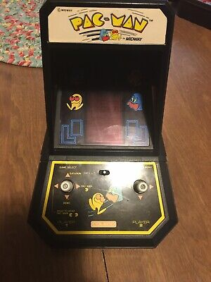 PAC MAN Coleco Midway 1981 Mini Table Top Arcade Machine Tested Works Vintage