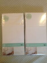 BRAND NEW WHITE COT SHEET SET x 2 Spotswood Hobsons Bay Area Preview
