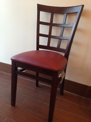 Mahogany Wood Frame Window  Back Restaurant Chair  Brand New