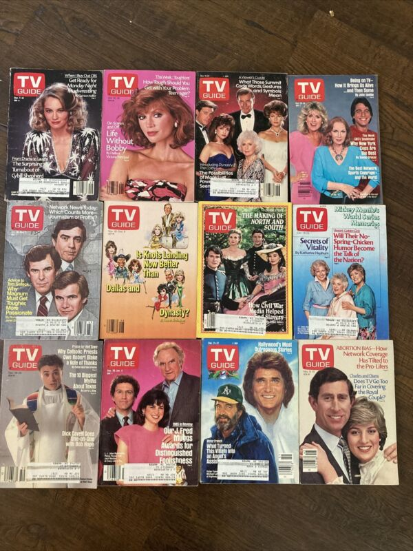 12x Central Indiana TV Guide Lot 1985 Cybill Shepherd Victoria Principle Colby's