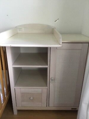 EAST COAST BABY NAPPY  CHANGING UNIT CABINET CUPBOARD WOODEN NURSERY FURNITURE