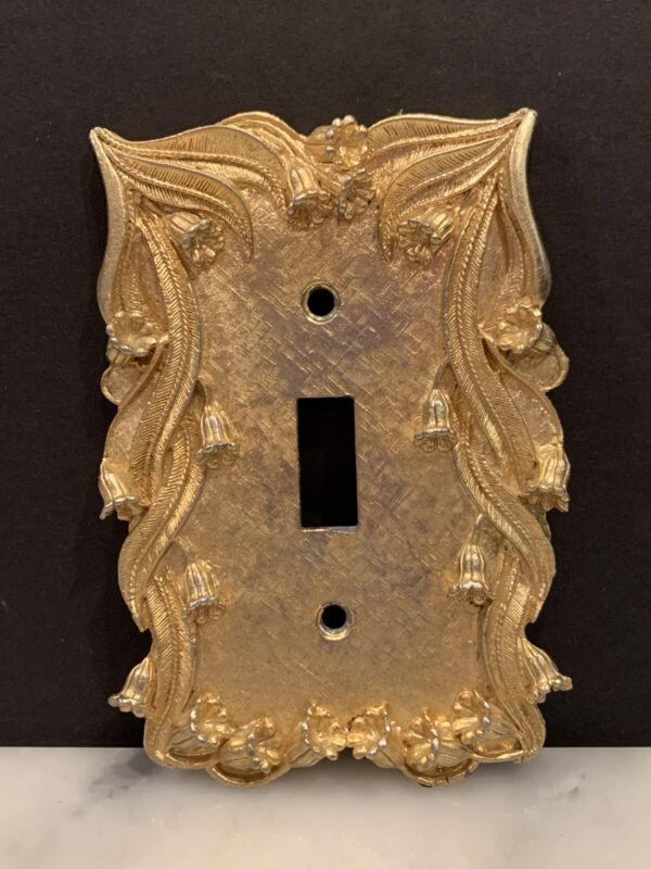 Vintage Florenta of California Gold Colored Switch Plate Cover