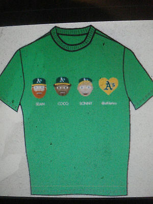 Oakland A's A-moji Tee T-shirt 4-25-2015 sz X-Large Athletics Shirt amoji