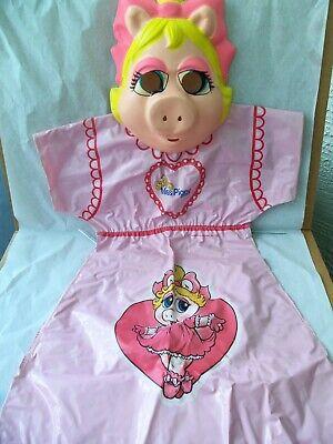 Miss Piggy Muppet Babies Halloween Costume & Mask Ben Cooper 1984 Original Box!