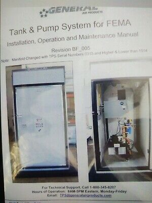 Brand New Self-contained Residential Fire Sprinkler System Pump House With Tank