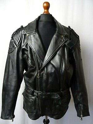 Men's Vintage HELD Leather Motorcycle Biker Jacket 48R (XXL)