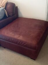 Brown Leather Ottoman Kingsford Eastern Suburbs Preview