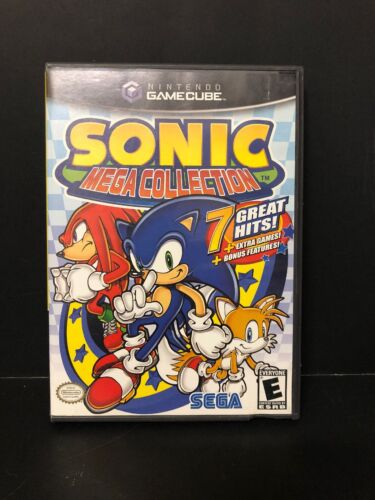 🎮 Sonic Mega Collection (Nintendo GameCube) COMPLETE! CIB W/MANUAL FREE S&H