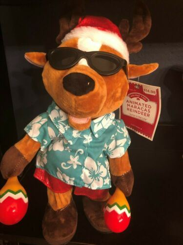 "GEMMY Pop & Lock Animated Dancing Reindeer w/Maracas ""Jump in the Line"" NWT"