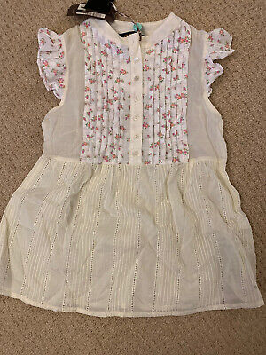 New Jo No Fui Girls Floral Top 14 Yrs Old Ivory