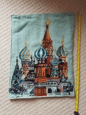 Vintage Wool Tapestry St Basil's Cathedral Moscow Picture/Cushion cover