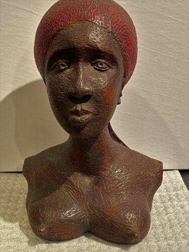 Signed Haitian Female Bust