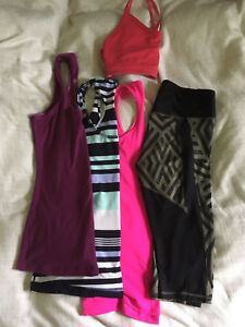 Lot of 5 Lululemon: 3 Racerback, 1 Crop, 1 Bra