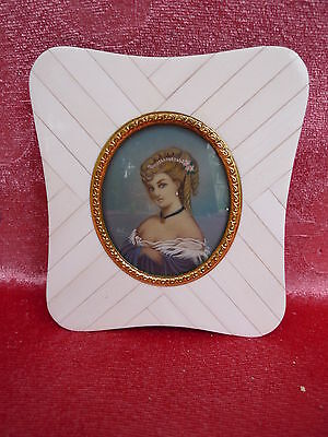 Beautiful, old Miniature__Portrait One Dame __ Magnifying Glass Painting __