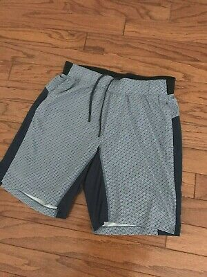 Lululemon Men's T.H.E. Shorts Lined Color Blue /Black Size Large Pre-owned