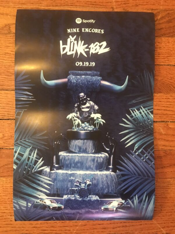 Blink 182 Rare Nine Release Party Poster Spotify