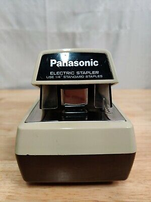 Panasonic As-300 Commercial Desktop Electric Stapler Tested Working