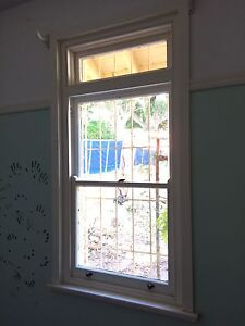 Double Hung Sash Windows Vintage Timber Fanlight Used Tempe Marrickville Area Preview