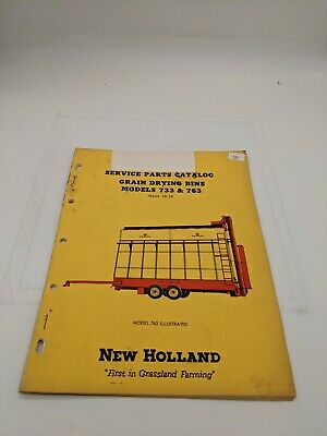 New Holland Service Parts Catalog Grain Drying Bin 733 763
