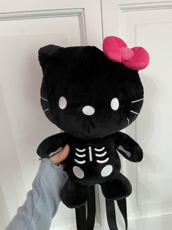 BRAND NEW Dolls Kill hello kitty skeleton backpack w/o tags