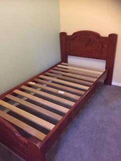 King Single Wooden Bed