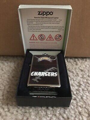 BRAND-NEW Zippo Street Chrome NFL San Diego Chargers Lighter In (Zippo Nfl San Diego Chargers)