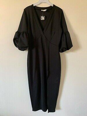 Plus Size Kimono Style Dress With Puffy Sleeves