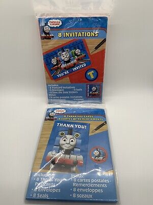 Thomas and Friends Birthday Party 8 Invitations and 8 Thank You Cards](Thomas And Friends Invitations)