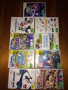 Wii console + 9 games Alberton Port Adelaide Area Preview