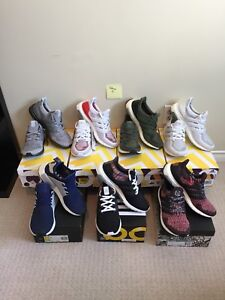 Size 8.5 Adidas Ultra Boosts and NMD