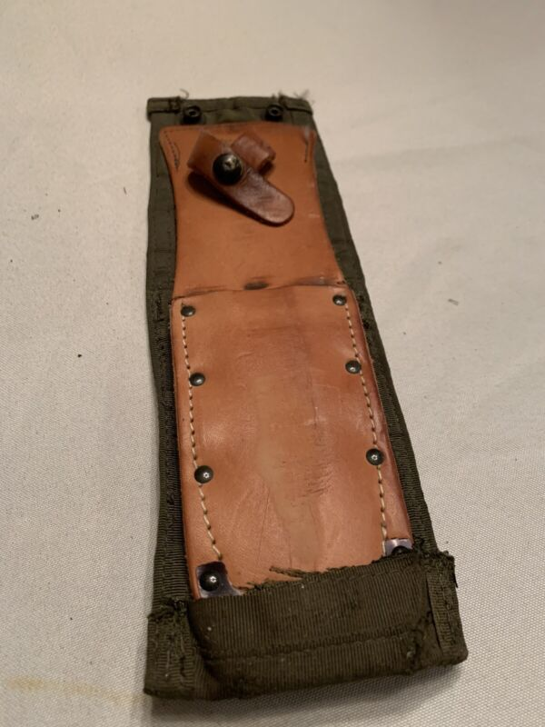 Pilot Survival Knife Sheath Leather Used Molle Attachment System