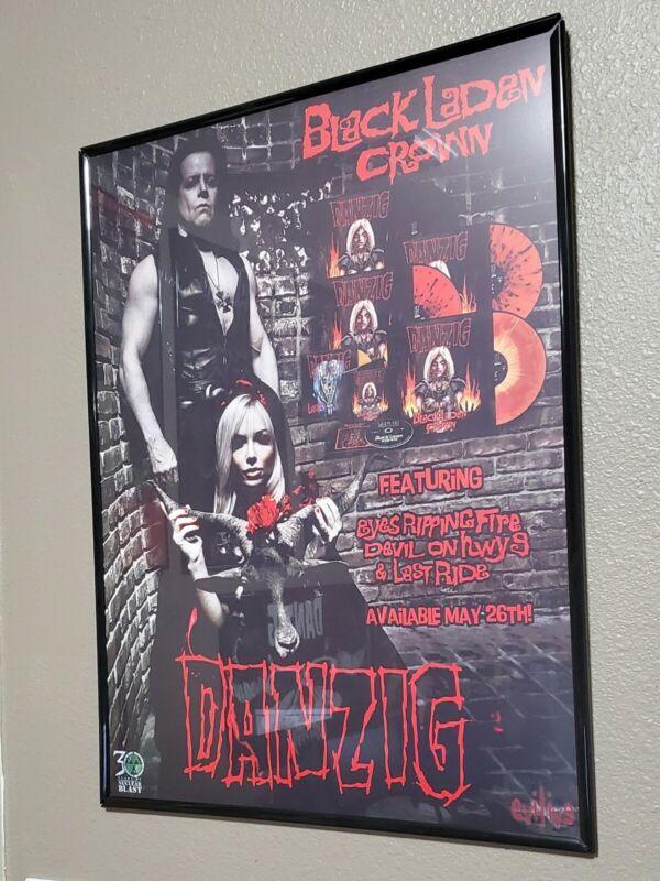 Danzig Black Laden Crown 18x24 Fan Poster Misfits Samhain