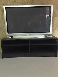 Black TV stand and free tv