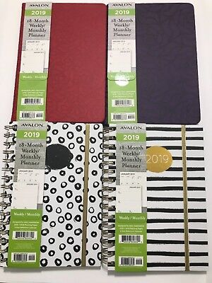 2019 Avalon 18-month Weeklymonthly Calendar Planner Appointment Book 6x8