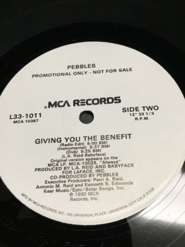 Pebbles Giving You The Benefit 1990 Vinyl 12 Single Remix By Shep Pettibone - $6.00