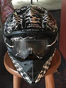 Youth XL motorbike helmet and goggles for sale Cairns Cairns City Preview