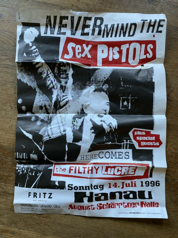 The Sex Pistols Concert Poster 1996 Germany Original LARGE Filthy Lucre RARE