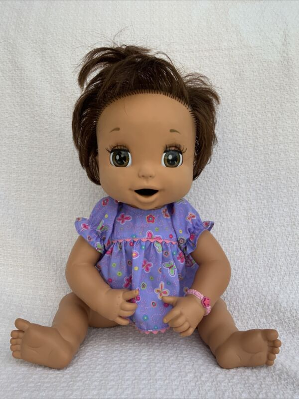 Baby Alive Soft Face 2006 Brown Hair & Eyes Eating Interactive Baby Doll