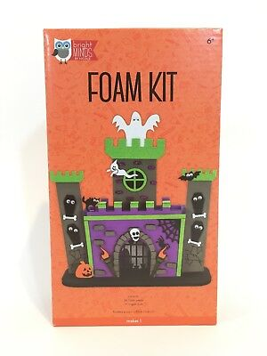 Bright Minds By Nicole Ghost Adhesive Foam Kit Halloween Kids Craft Project New - Kid Halloween Projects