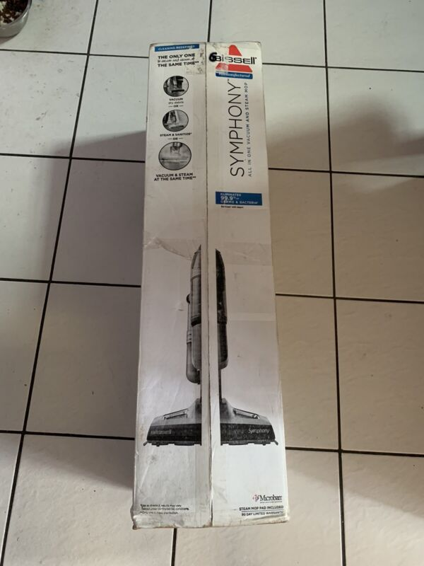 NEW Bissell 1132R Symphony All in One Vacuum and Steam Mop 4 Mop Pads Included