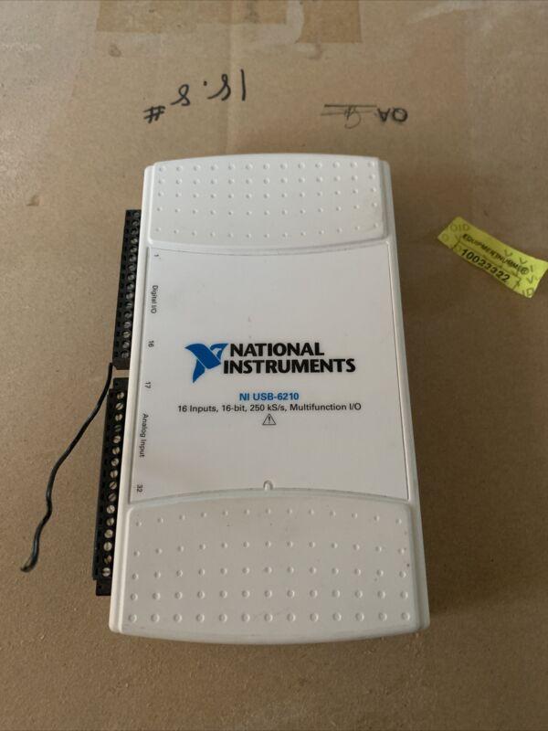 National Instruments USB-6210 Multifuction I/O 194710E-04L 16-bits 16 inputs