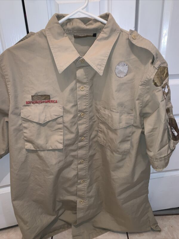 Boy Scout BSA UNIFORM New Style SHIRT Adult Large  Short Sleeve K56