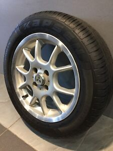"MULLINS TWIN 5 SPOKE 15"" ALLOY WHEELS AND TYRES COROLLA PULSAR LANCER Carramar Fairfield Area Preview"