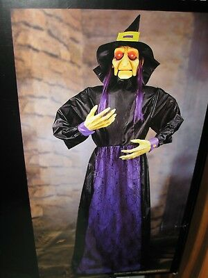 HALLOWEEN LIFE SIZE HAUNTED HOUSE ANIMATED TALKING WICKED WITCH  PROP 66 INCH