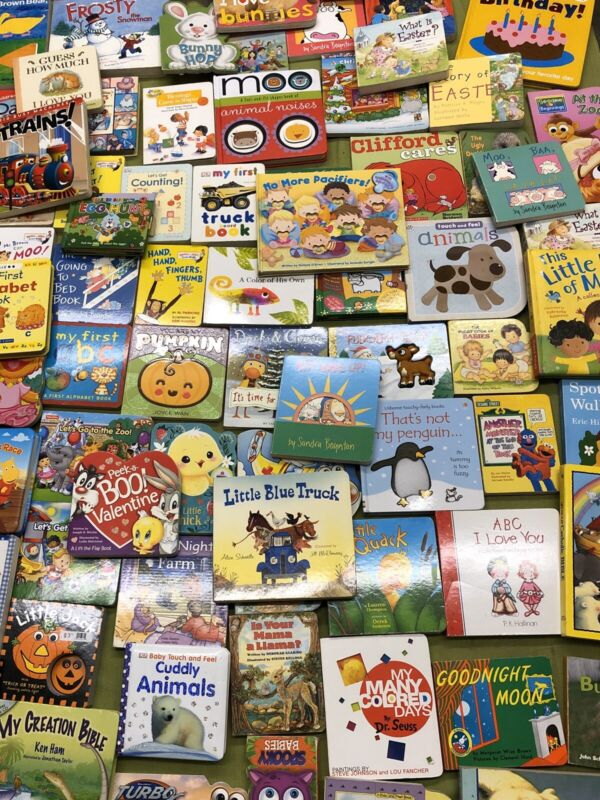 Lot of 10 Board Books for Young Children, Toddlers, Babies - Name your interests